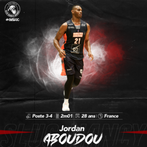 Jordan Aboudou pigiste médical au SLUC Nancy Basket !